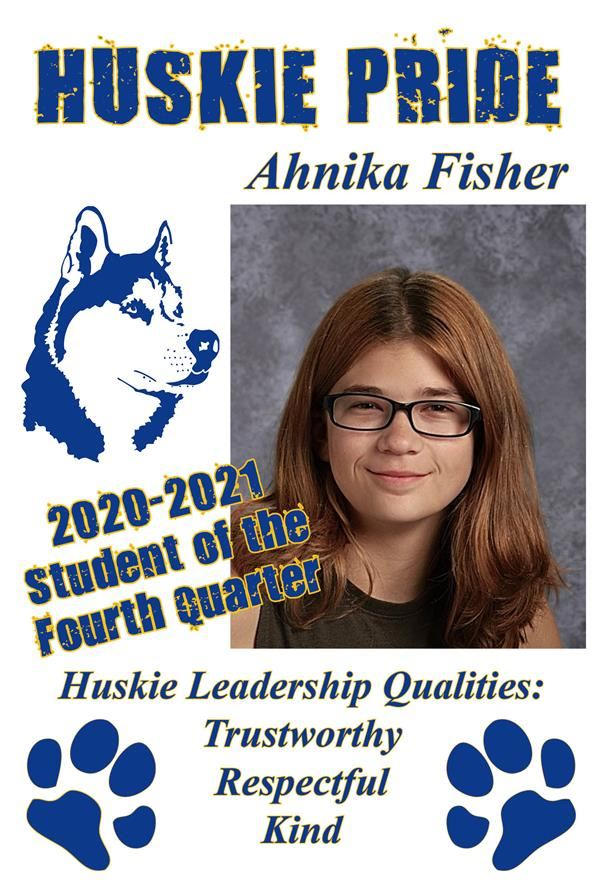 Ahnika Fisher, Student of the Quarter