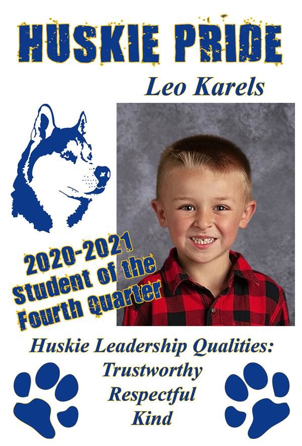 Leo Karels, Student of the Quarter