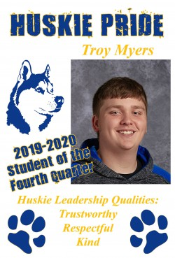 Troy Myers - Student of the Quarter